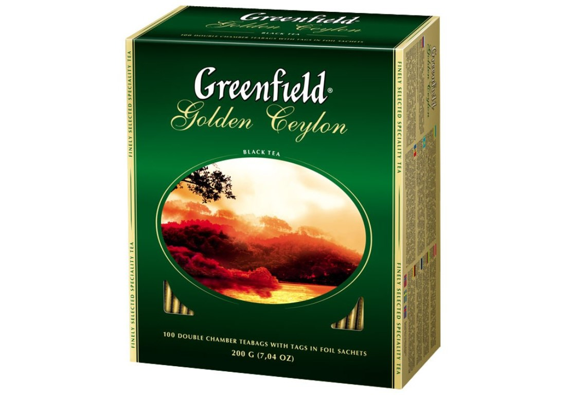 Чай Greenfield Golden Ceylon черный,  2x100п