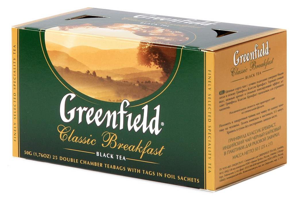 Чай Greenfield Classic Breakfast черный, 2х25п