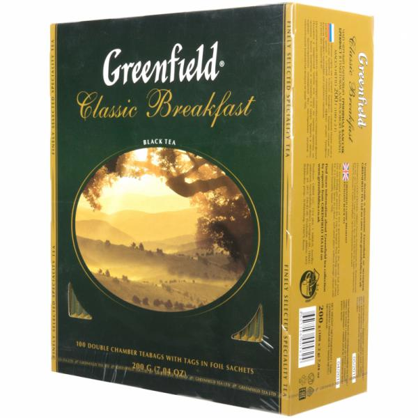 Чай Greenfield Classic Breakfast черный, 2x100п