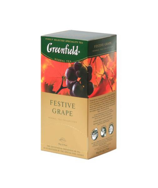 Чай Greenfield Festive Grape фруктовый, 2x25п