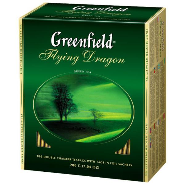 Чай Greenfield Flying Dragon  зеленый, 2x100п