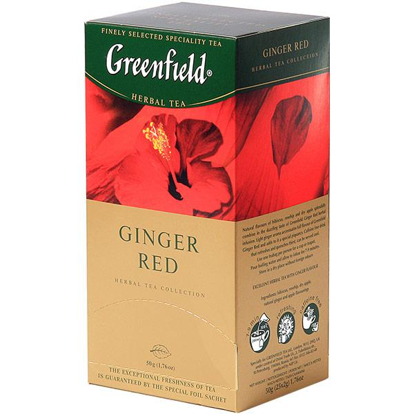Чай Greenfield Ginger Red травяной, 2x25п