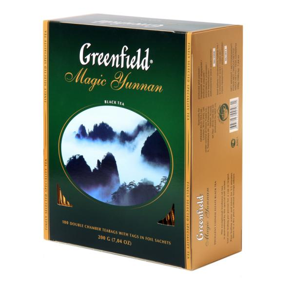 Чай Greenfield Magic Yunnan черный, 2x100п