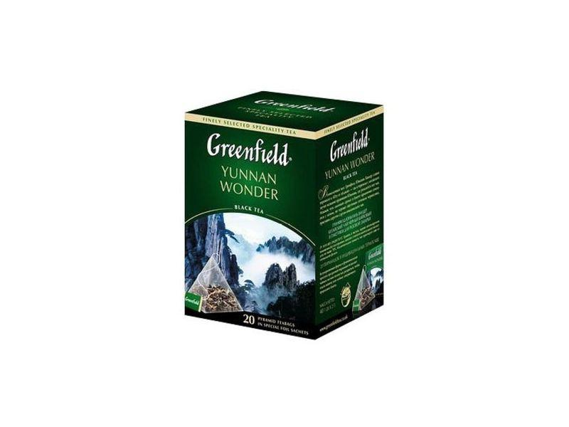 Чай Greenfield Yunnan Wonder черный, 2x20п