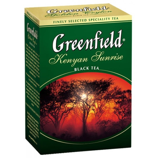 Чай Greenfield Kenyan Sunrise черный, 100г