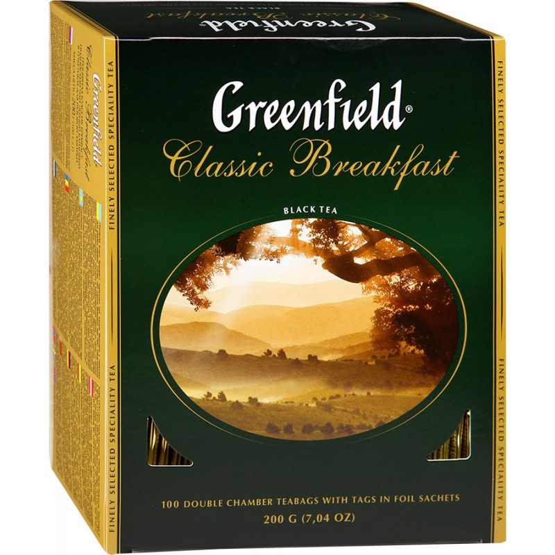 Чай Greenfield Classic Breakfast черный, 100г