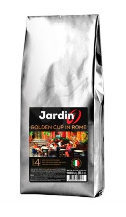 NEW! Кофе в зернах Jardin Golden Cup In Rome (Голден Кап Ин Ром) 1кг пачка, для сегмента HoReCa