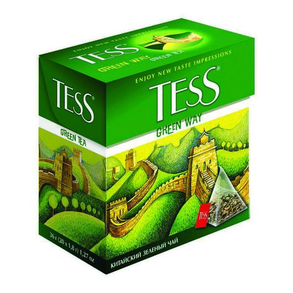 Чай Tess Green Way зеленый, 1,8x20п